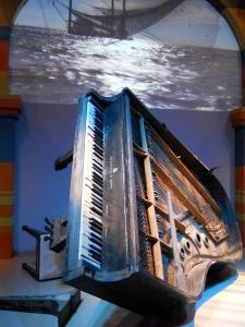 Fats Domino's piano recovered after Hurricane Katrina.