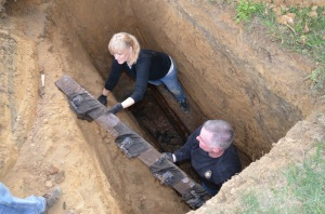 empty coffin