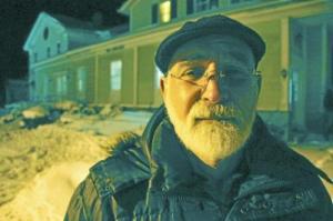 John Zaffis outside former McBride Funeral Home