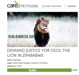 Demand Justice for Cecil